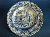 Rare Henshall 'Spanish Procession' Dinner Plate c1820